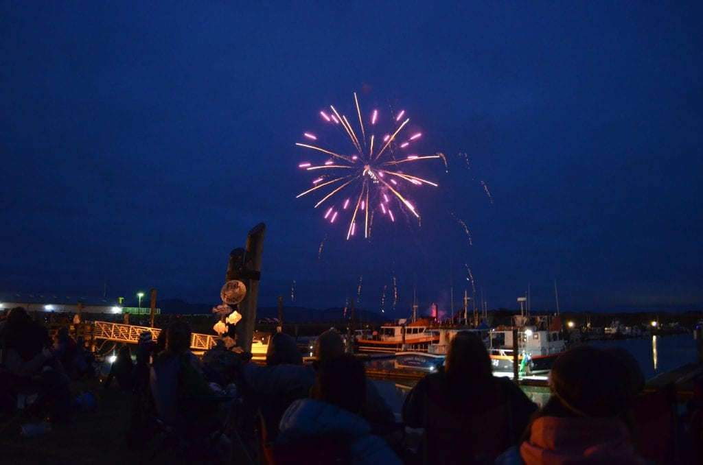 Fireworks at the Port of Ilwaco