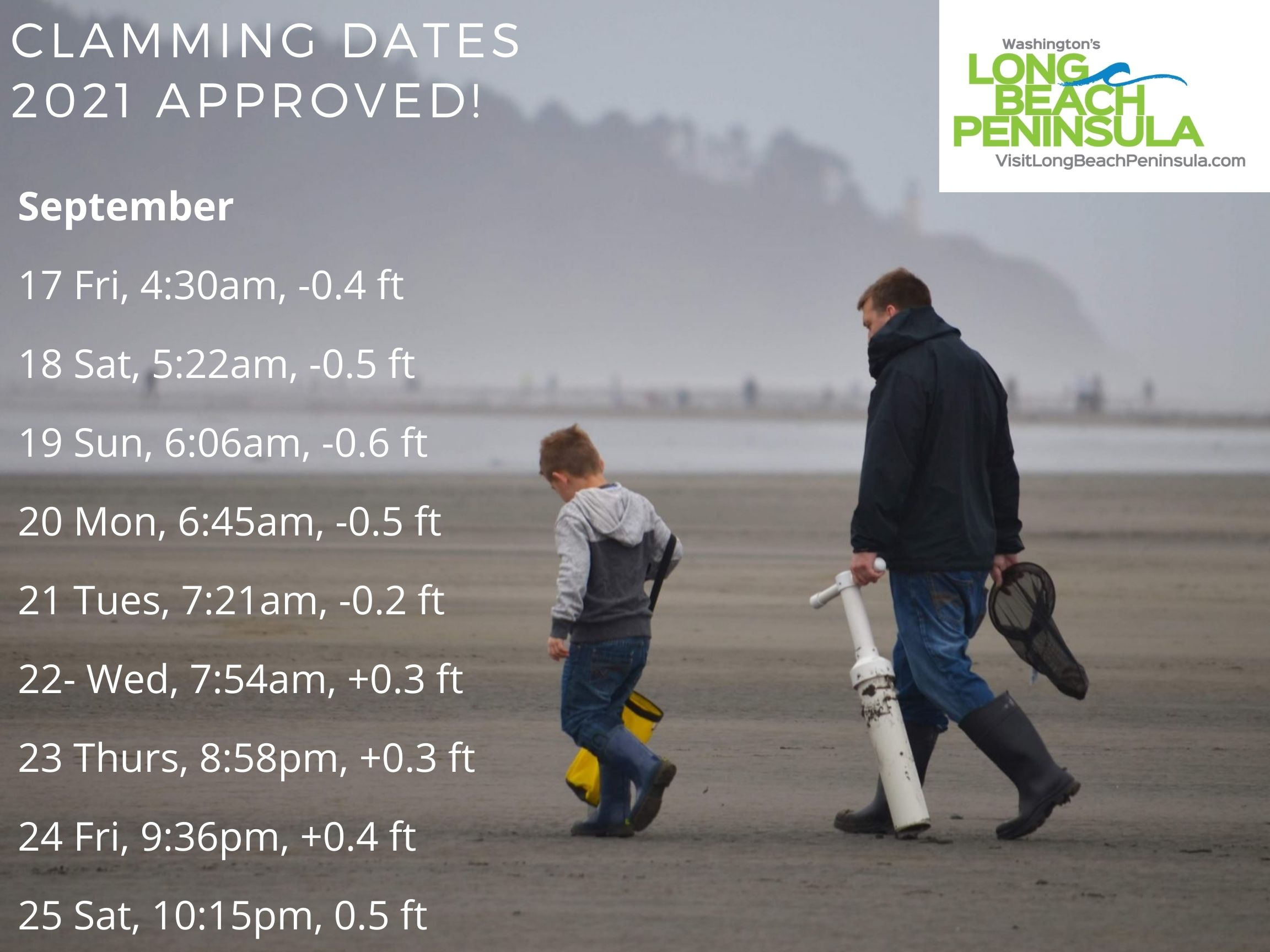 Clamming Dates Approved Sep 2021